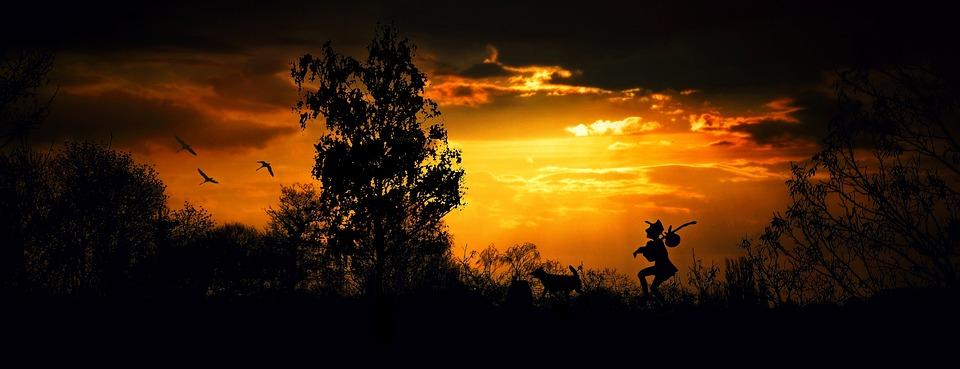 Wanderer, Wandersmann, Walk, Hiking, Twilight