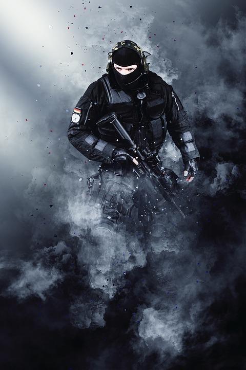 Army, Warrior, Photoshop, War, Cloud, Fog, Military