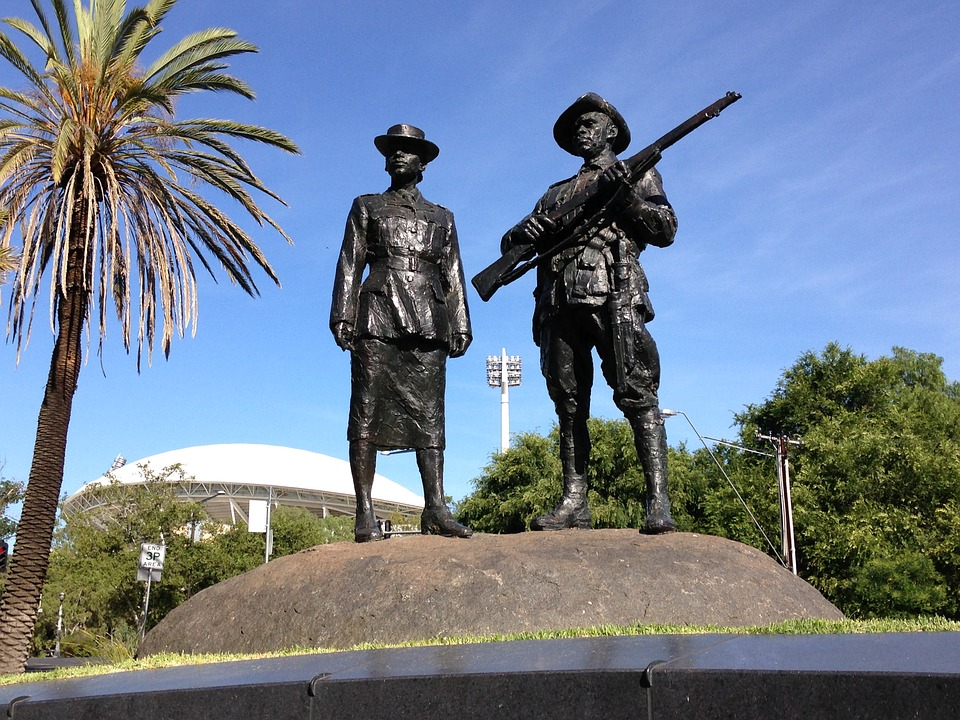Soldiers, War, Memorial, Rsl Adelaide, Monument, Statue