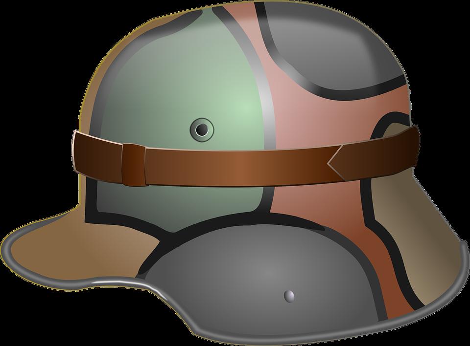 Helmet, Soldier, War, German