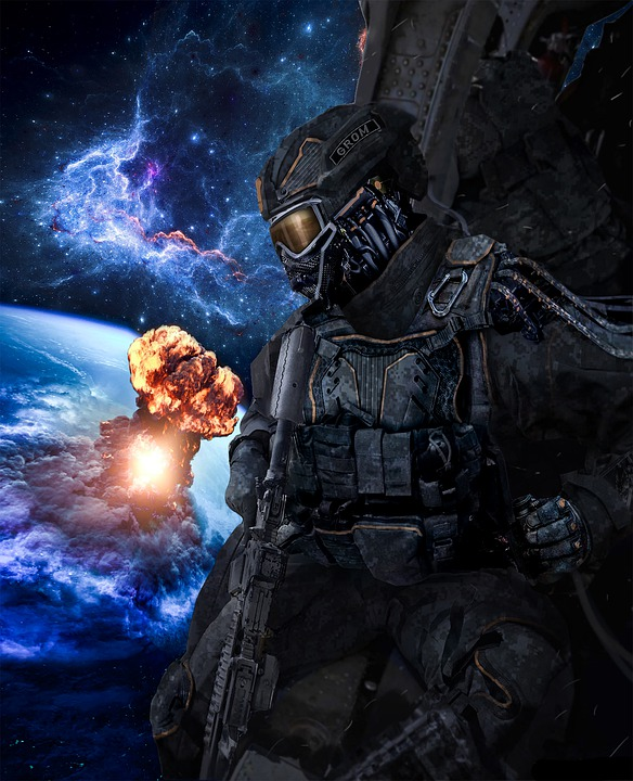 War, Space, Future, Soldiers Of The Future, Soldier