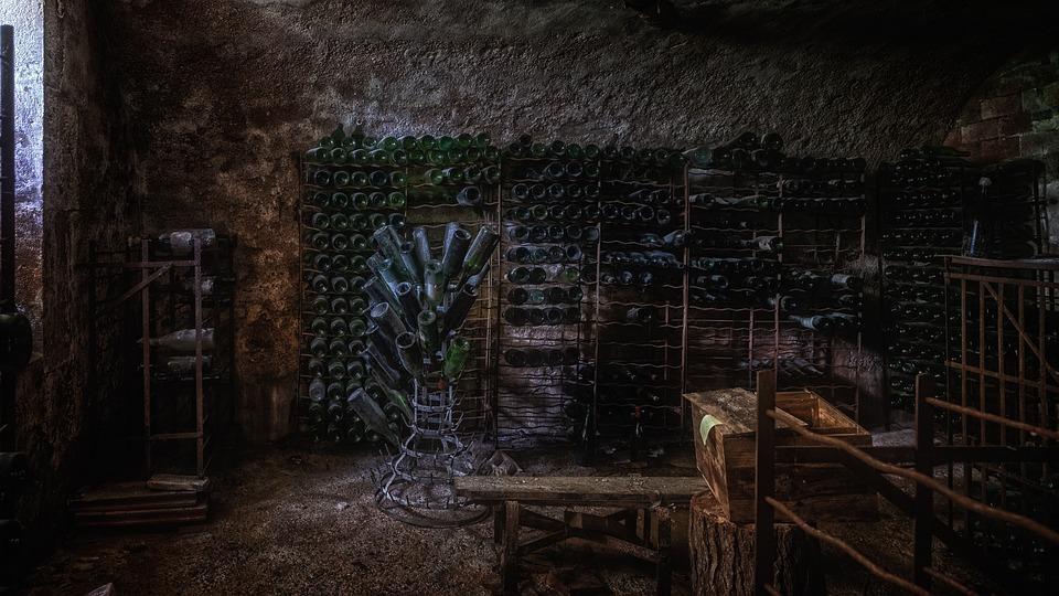 Basement, Cellar, Wine Cellar, Bottles, Warehouse