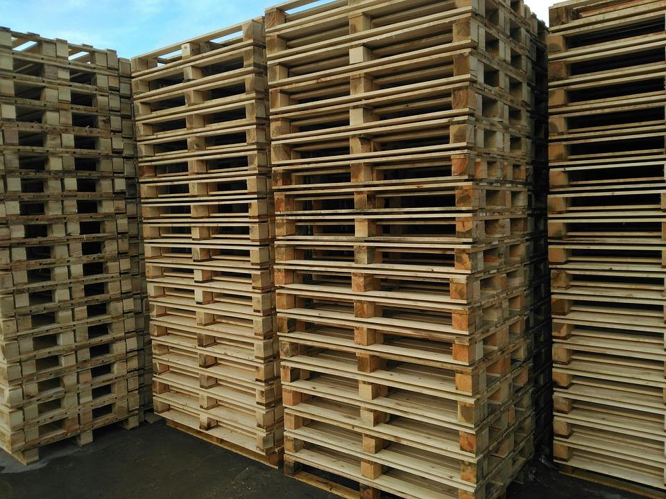 Pallets, Wood, Warehouse, Europallet, Stack