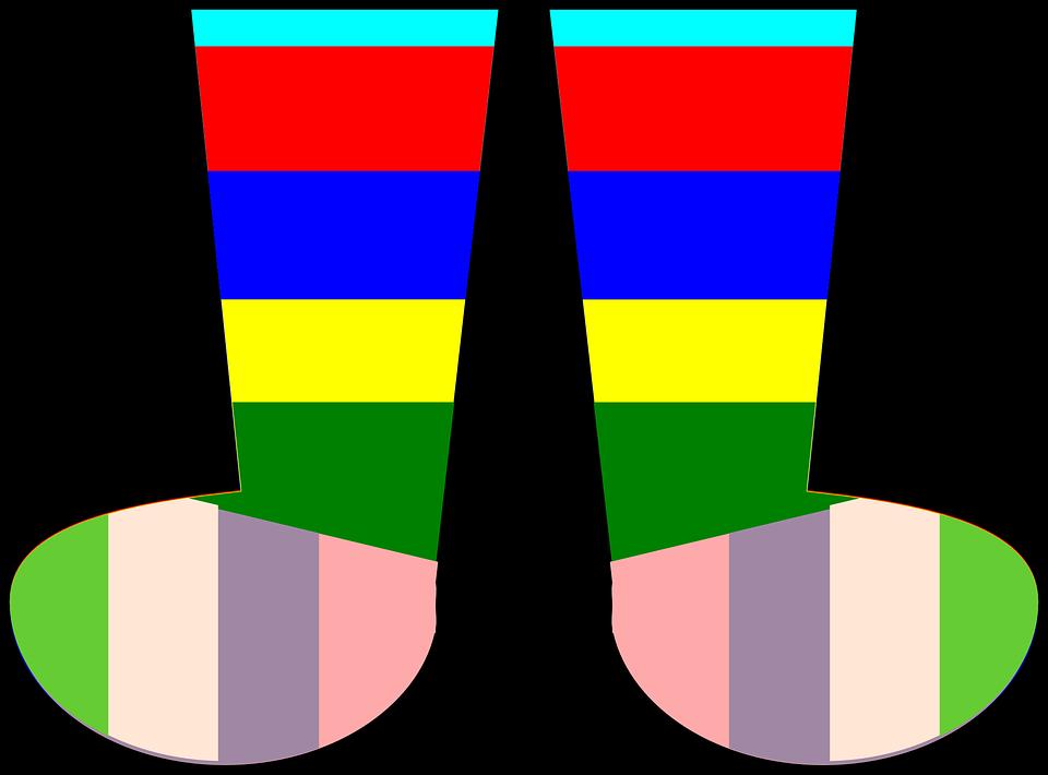 Socks, Rainbow, Footwear, Clothing, Kids, Warm, Foot