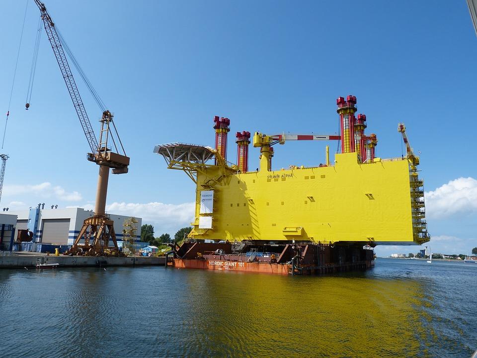 Crane, Crane Arm, Warnemünde, Rostock, Baltic Sea