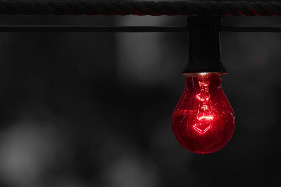 Red, Warning, Alert, Bulb, Light, Light Bulbs