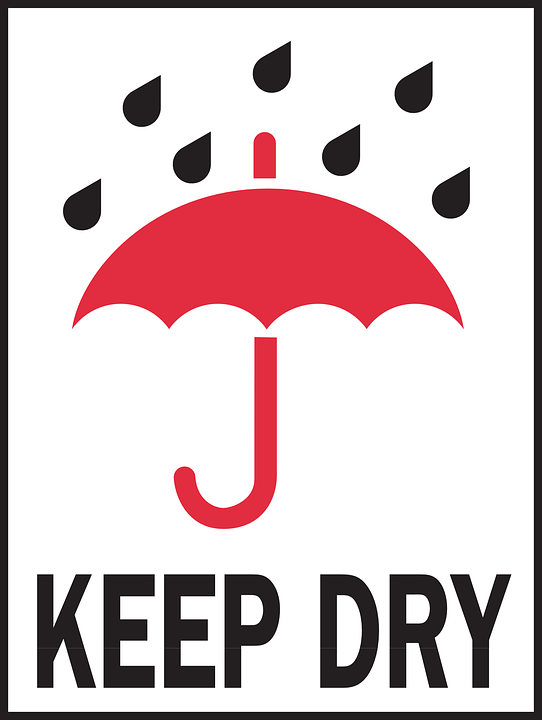 Keep, Dry, Warning, Packaging, Package, Sign, Symbol