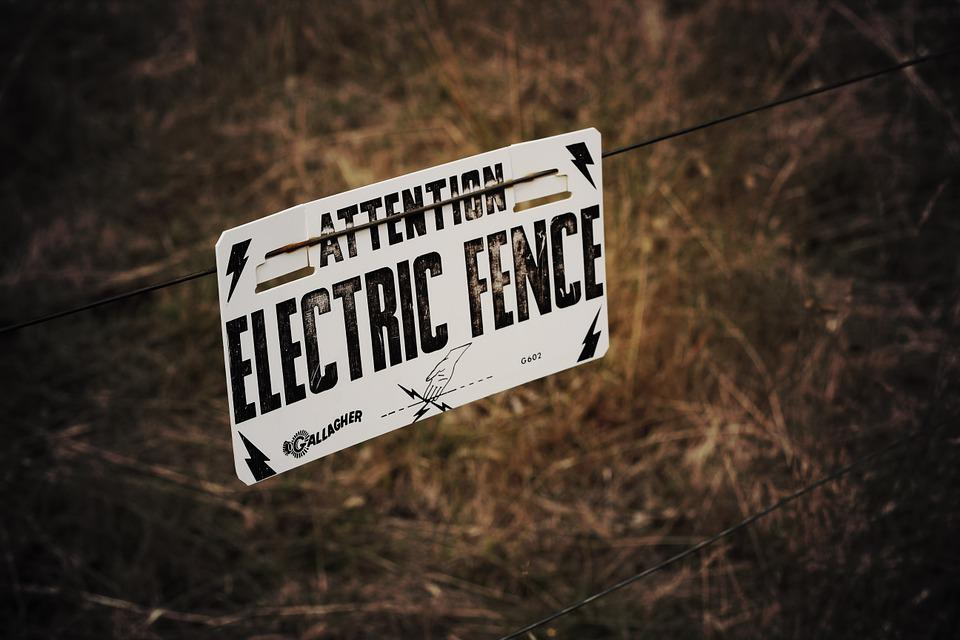 Sign, Fence, Electric, Message, Attention, Warning