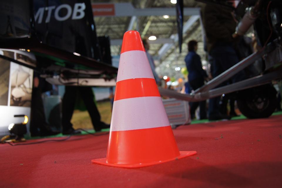 Traffic, Hat, Traffic Cone, Red, White, Shield, Warning
