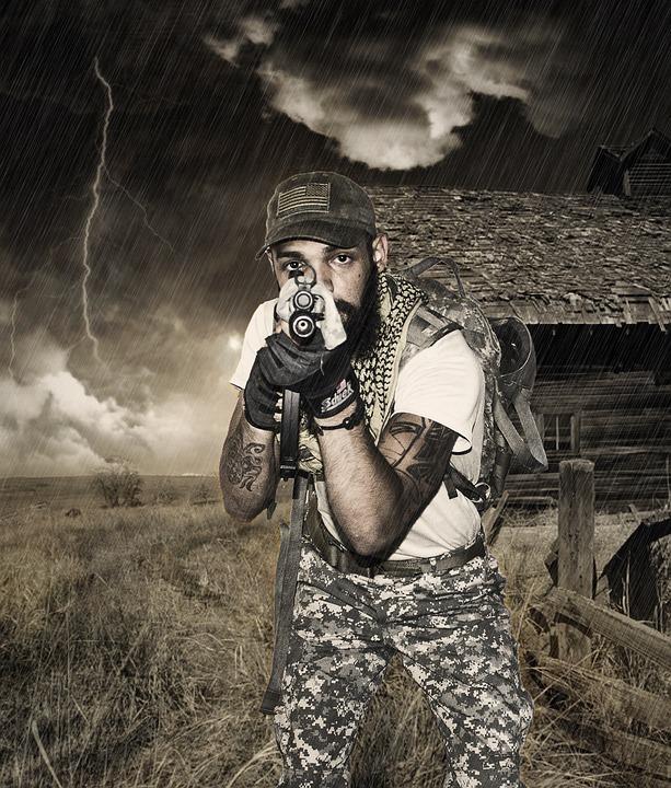 Soldier, Army, Portrait, Warrior, Gun, Weapon