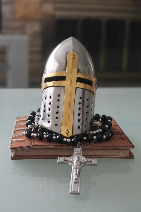 Knight, Cross, Medieval, Silver, Warrior