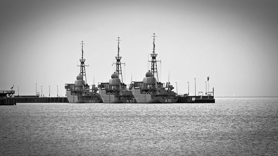 Ship, Warship, Navy, Military, Baltic Sea, Port, Force