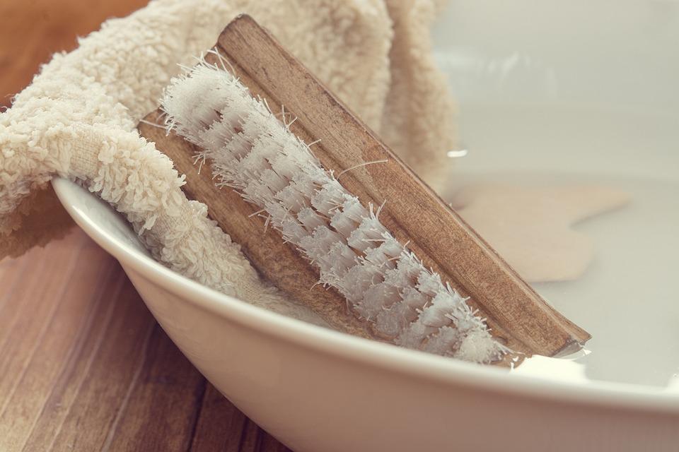 Wash Brush, Hand Brush, Washcloth, Wash Bowl, Water