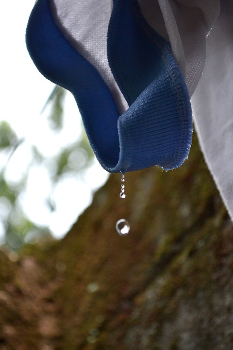 Water Drop, Water Dripping, Water, T-shirt, Washed