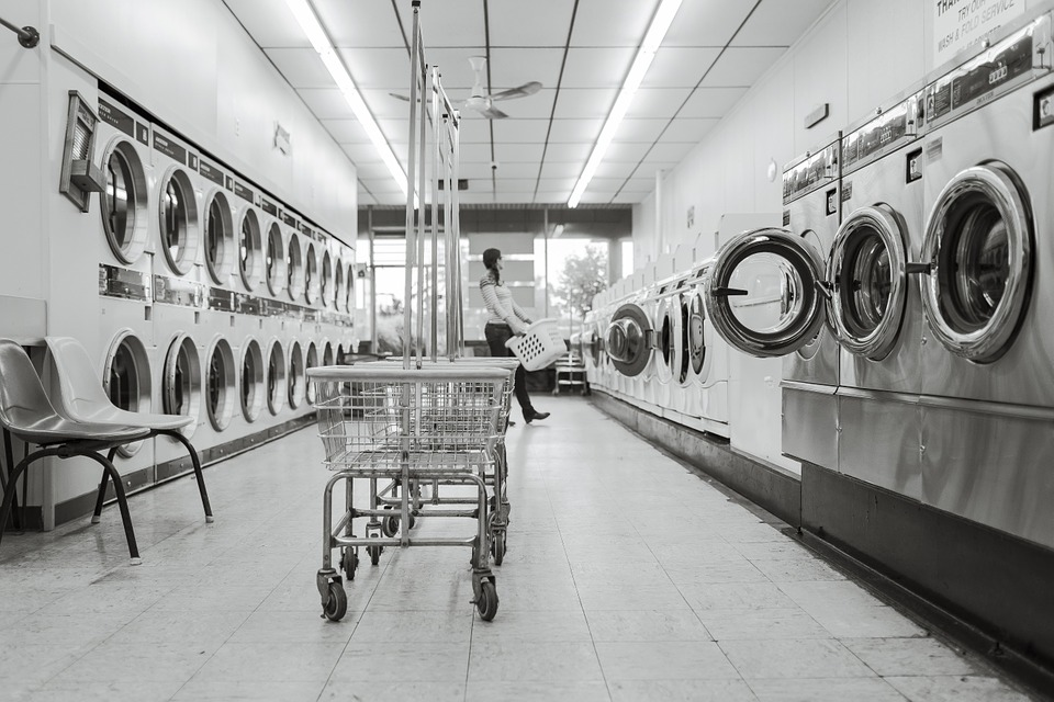 Laundry Saloon, Laundry, Person, Washing Machines