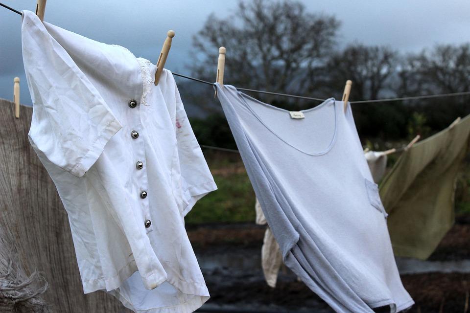 Clothes, Old, Washing, Line, Stormy, Rain, Dark