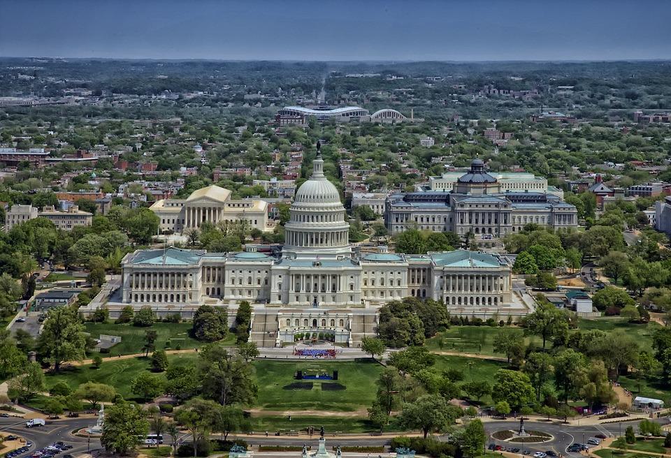 Capitol, Washington Dc, Aerial View, Capitol Building
