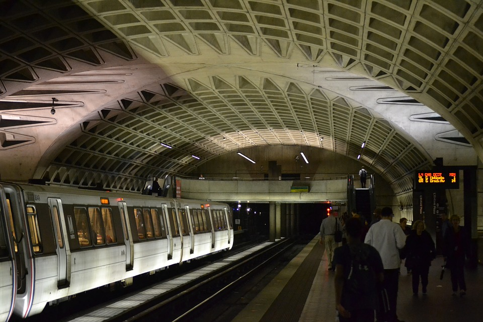 Metro, Washington, Dc, Station, Train, Transportation