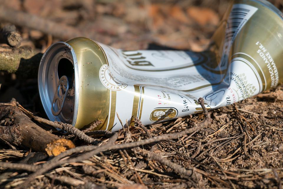 Beer Can, Garbage, Pollution, Waste, Box