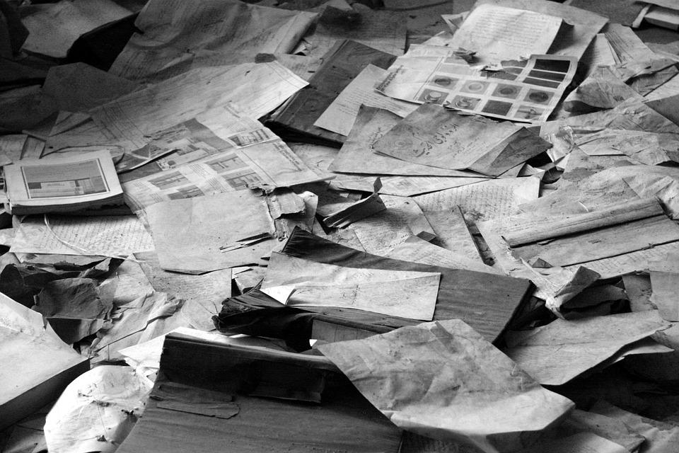 Risultati immagini per newspapers garbage