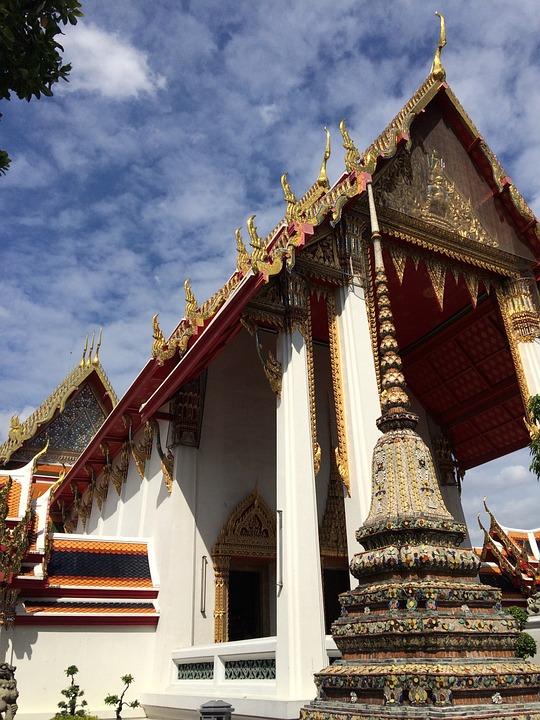 Temple, Bangkok, Thailand, Buddhism, Wat, Culture