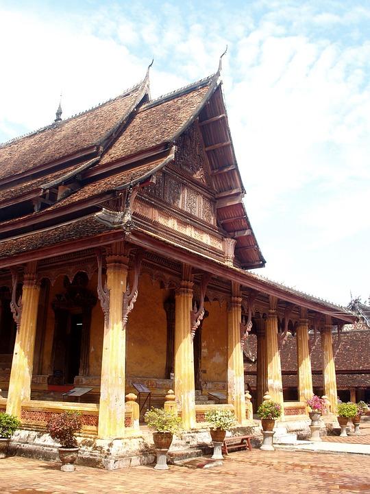 Wat, Temple, Laos, Indochina, Oriental, Vientiane