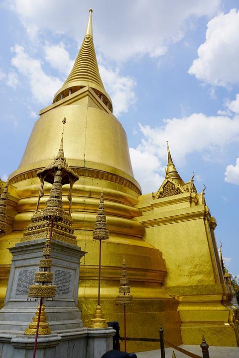 Chedi, Stupa, Gold, Wat Phra Kaew, Grand Palace, Temple