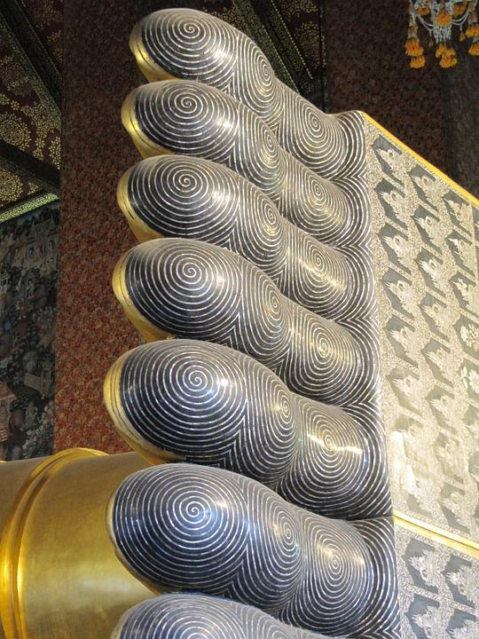 Thai, Temple, Toes, Sculpture, Symbol, Wat, Ancient