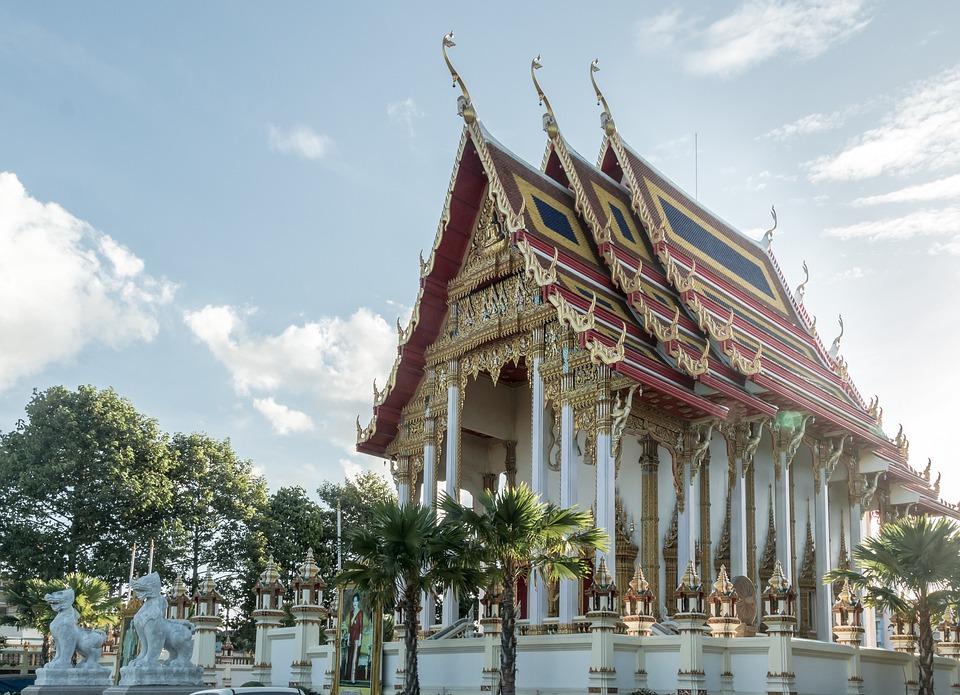 Temple, Thailand, Buddhism, Asia, Wat, Tourism