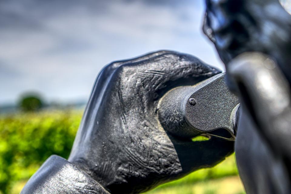 Statue, Figure, Binoculars, Watch, Ausschau, Look
