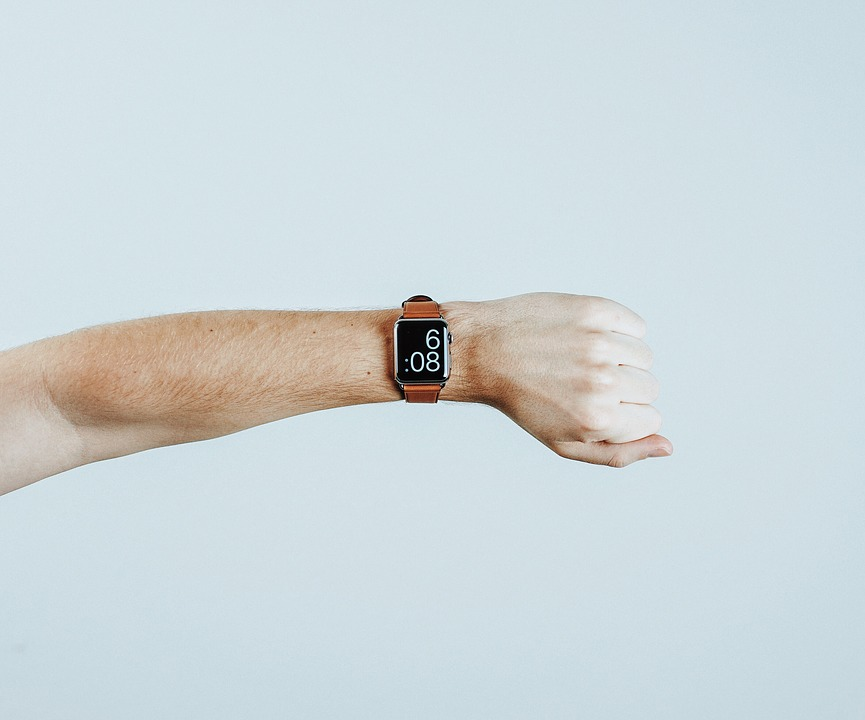 People, Hand, Watch, Time, Technology, Fist, Blue Time