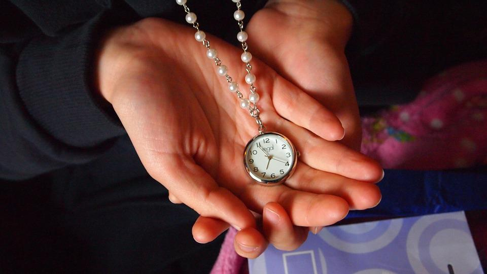 Watch, Hand, Necklace, Time, Fingers, Ornament