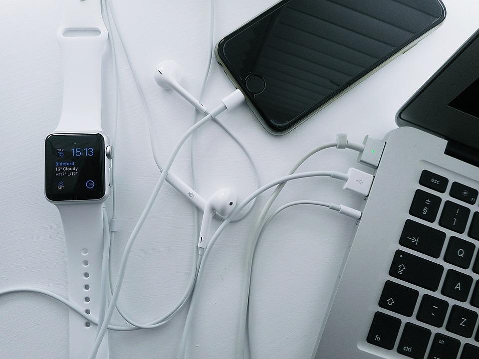 Laptop, Iphone, Watch, Office, Business, Desk, Computer