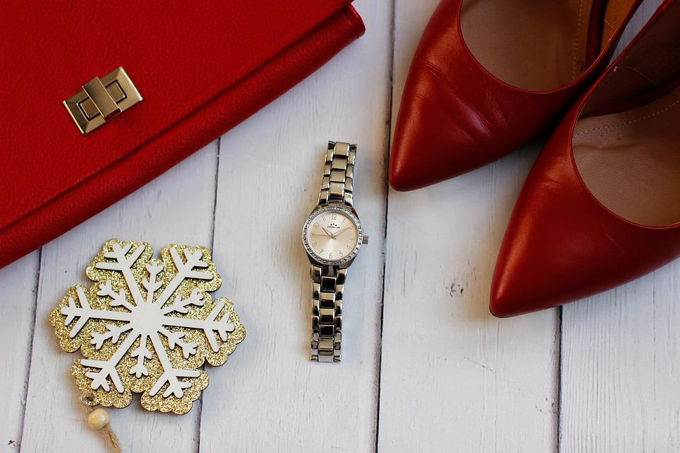 Fashion, Clothes, Watch, Pins, Red, Ladies Watch
