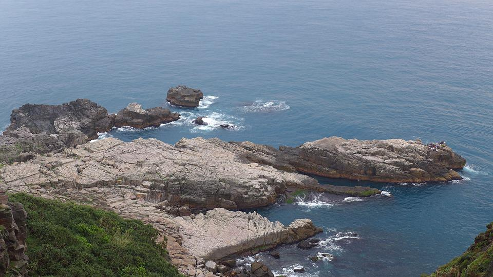 Rocky Shore, Landscape, Taiwan, Watching, Trip, Pacific