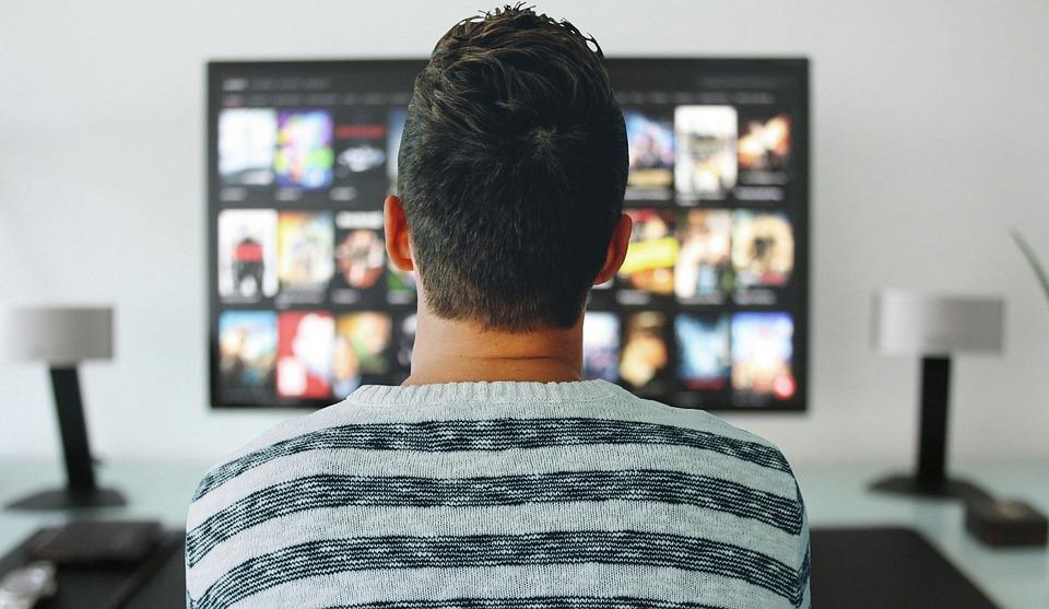 Tv, Man, Watching, Room, Office, Modern, Technology