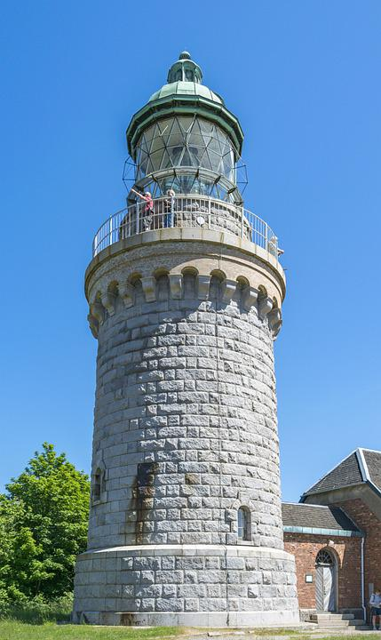 Lighthouse, Building, Watchtower, People, Stoneworks