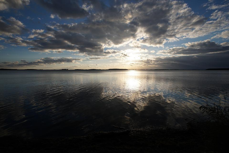 Sunset, Rügen, Abendstimmung, Water