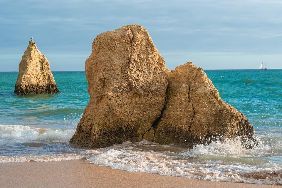 Coast, Algarve, Rock, Sea, Portugal, Atlantic, Water