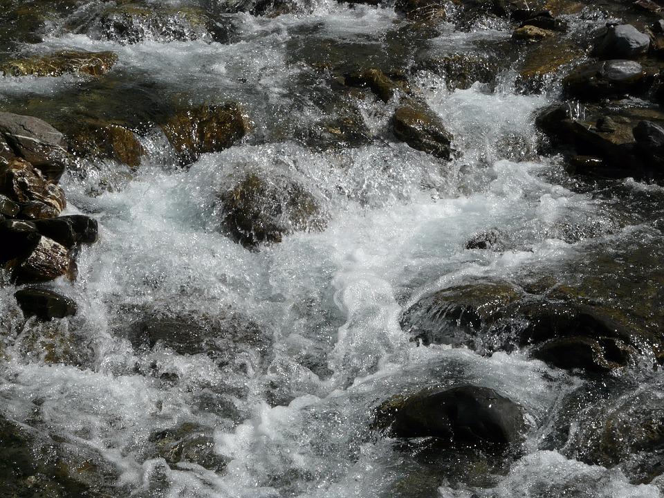 Torrent, Water, Mountain, Nature, Alps, Rocks