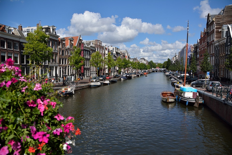 Amsterdam, Water, Channel, Netherlands, City, Boat
