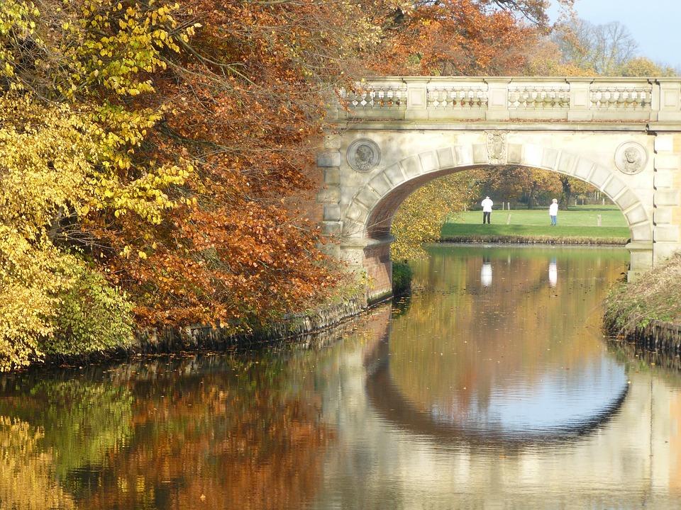 Bridge, Bach, Autumn, Nature, Water, Bridge Brook