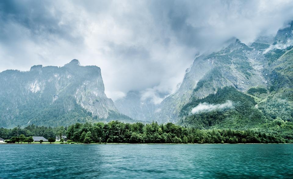 Königssee, Germany, Bavaria, Berchtesgaden, Water, Lake