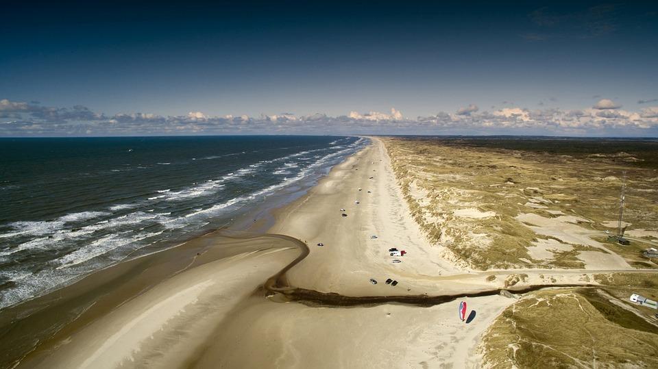 Denmark, Sea, North Sea, Dune, Coast, Beach, Water