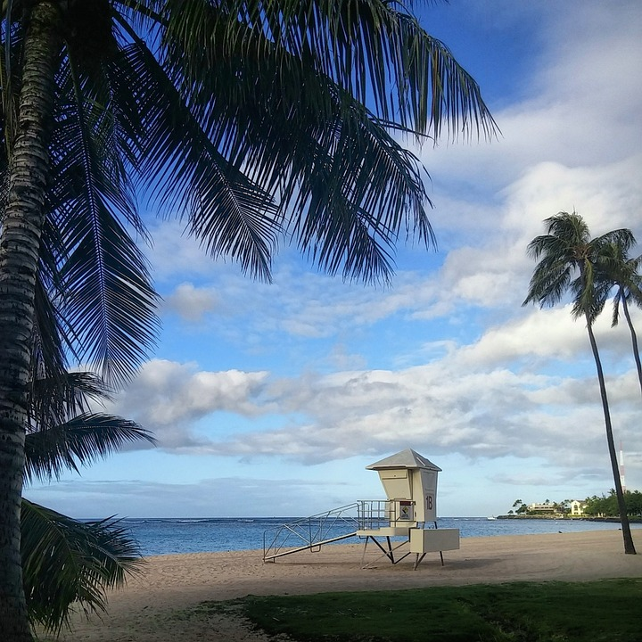 Lifeguard, Beach, Ocean, Sea, Landscape, Outdoor, Water
