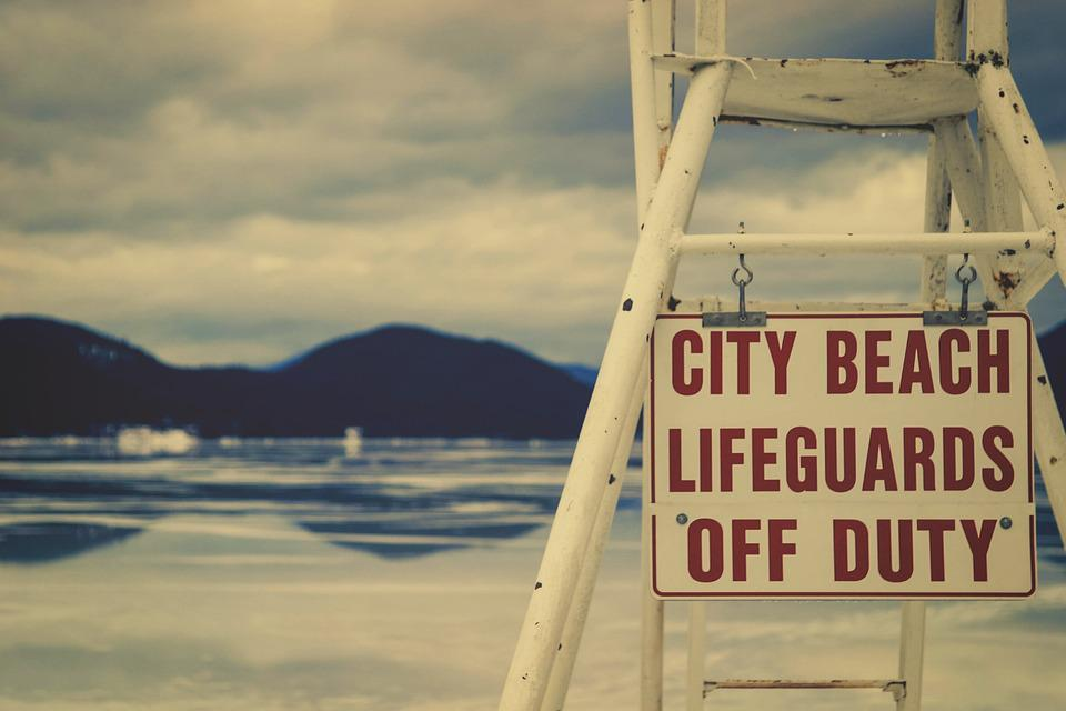 Beach, Lifeguard, Sign, Water