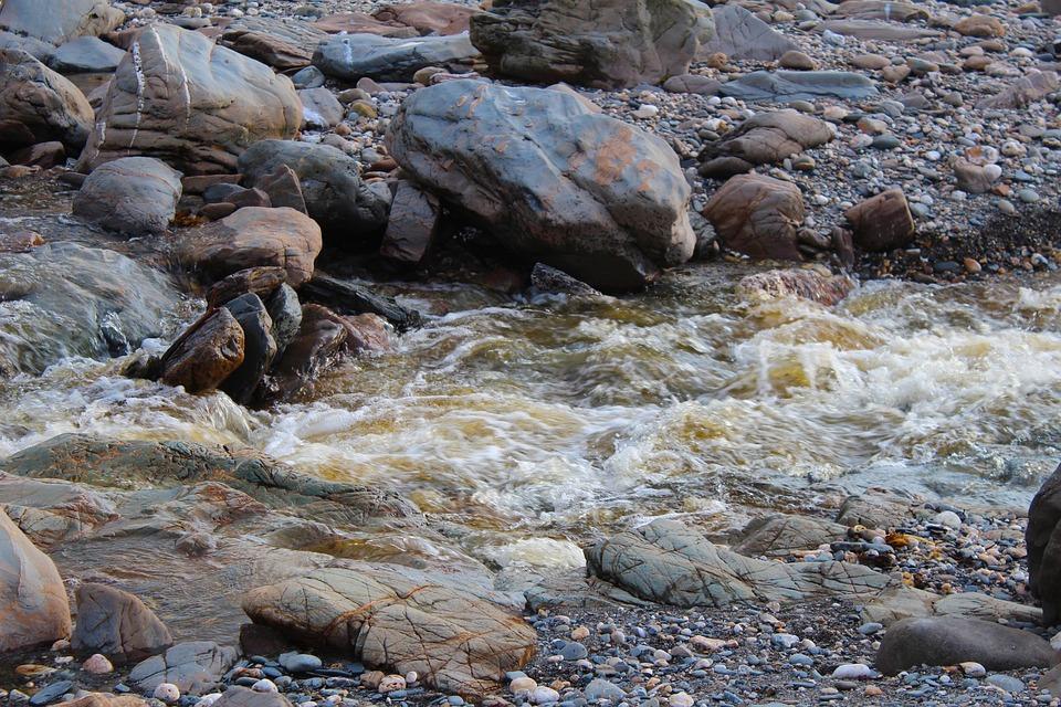 Water, Rocks, Stones, Rock, Beach, Nature, Landscape
