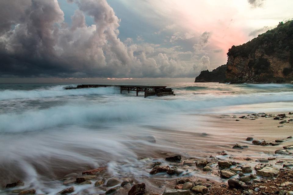 Sea, Beach, Water, Budva, Montenegro