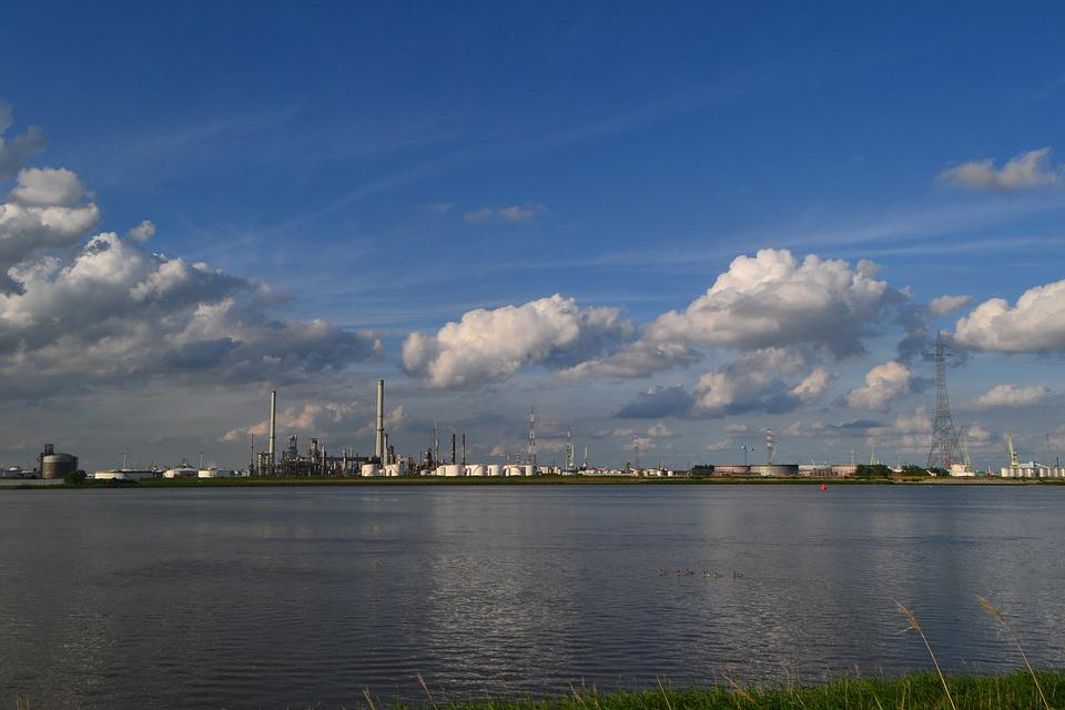 Water, Schelde, Antwerp, Belgium, Factory, Industrial