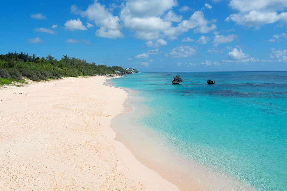 Bermuda, Pink Sand, Beach, Ocean, Nature, Water, Summer